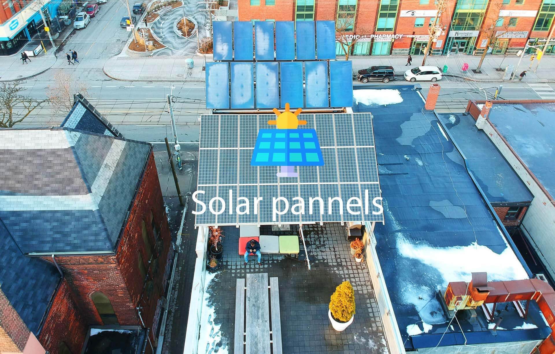 Solar Pannels in a rooftop
