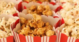 Pop corn with caramel