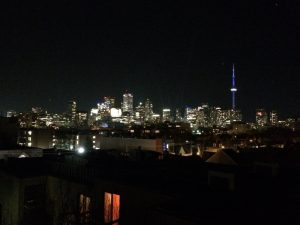Toronto view at night