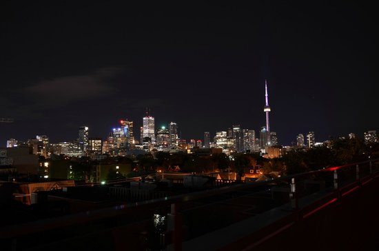 Toronto CBD View at night with CN Tower