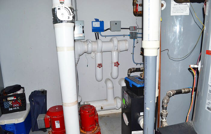 Geothermal heat pump installation - Planet Traveler Hostel Toronto
