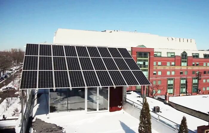 Solar Photovoltaic panel - Planet Traveler Hostel Toronto