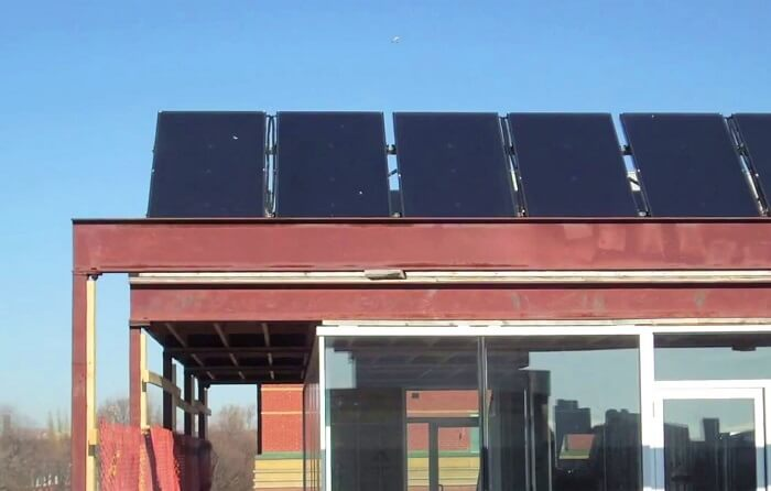Solar Thermal panels - Planet Traveler Hostel Toronto